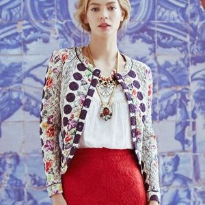 Anthropologie Isani Salta Floral Quilted Jacket